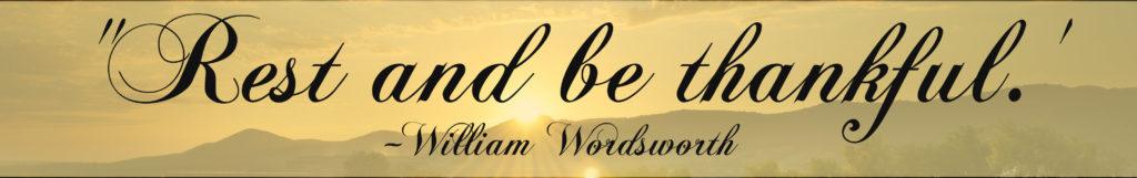 William Wadsworth quote.
