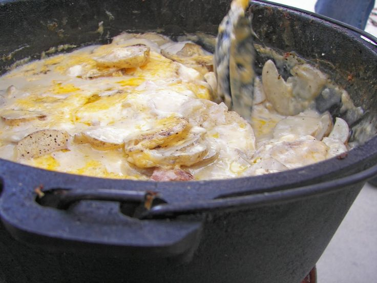 Sliced potatoes.