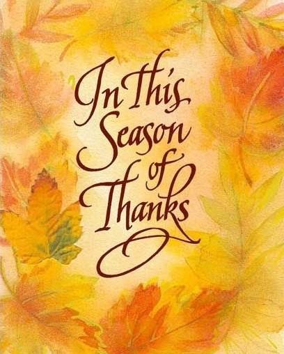 Thank You season!