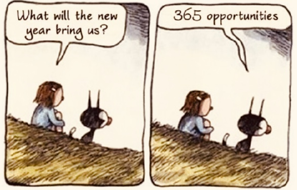 A New Year is 365 days of opportunity!