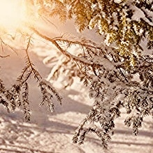 Snow drifts in Utah.